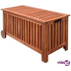 vidaXL Skrzynia na koce 118x52x58 cm drewniana