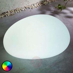 Lampa solarna LED RGB Floriana, jak kamień, 32 cm