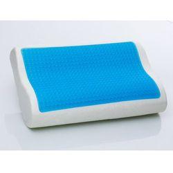 Beliani Żelowa poduszka memory foam 50x30 cm - piankowa - ortopedyczna - moco (7081454606980)
