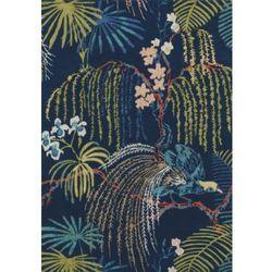 Niebieski dywan w kwiaty Rain Forest Tropical Night, Niebieski dywan w kwiaty Rain Forest Tropical Night 039600_20191212111755