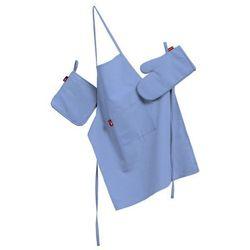 Dekoria Komplet kuchenny fartuch,rękawica i łapacz, niebieski, kpl, Loneta - sprawdź w wybranym sklepie