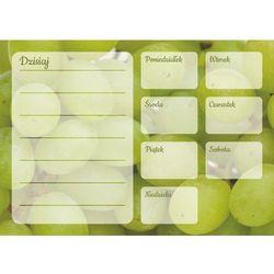 Tablica magnetyczna suchościeralna plan tygodnia winogrona 347