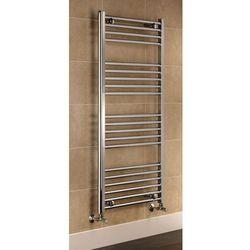 Grzejnik łazienkowy York - wykończenie proste, 500x1200, owany