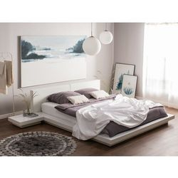 Beliani Łóżko białe 180 x 200 cm zen