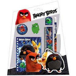 Derform, Angry Birds, zestaw przyborów szkolnych, 6 elementów od Smyk
