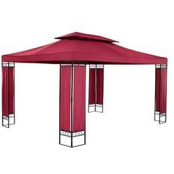 Pawilon ogrodowy - prostokątny - czerwone wino marki Uniprodo