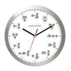 Zegar aluminiowy matematyka #9, AL02M9