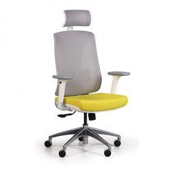 Krzesło biurowe z siatkowanym oparciem ENVY, żółte