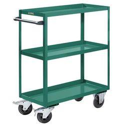 Montażowy wózek pomocniczy, 3 piętra, nośność 350 kg, wys. całkowita 1215 mm, tu