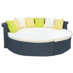 Duże łóżko ogrodowe ron z technorattanu czarny marki Bello giardino