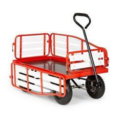 Waldbeck ventura, ręczny wózek transportowy, nośność 300 kg, stal, wpc, czerwony (4060656226052)