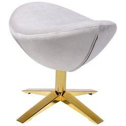 King home Podnóżek egg szeroki velvet gold jasny szary.37 - welur, podstawa złota (5900000042572)