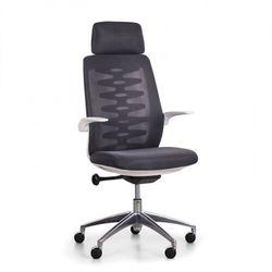 Krzesło biurowe z oparciem siatkowym sitta white, czarne marki B2b partner