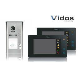 Zestaw cyfrowy wideodomofon dwurodzinny VIDOS S1102A_M1021B czarny