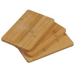 Zestaw trzech desek do krojenia z drewna bambusowego, deska do krojenia, deska kuchenna, deska do serwowania, akcesoria kuchenne, Kesper