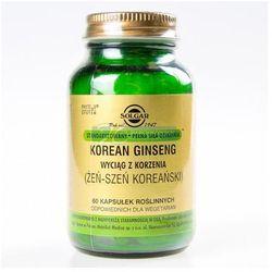 SOLGAR Żeńszeń koreański (Korean Ginseng) 60 Kapsułek - oferta [05e8217857615250]