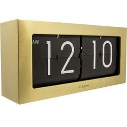 Nextime - zegar stojący big flip - złoty