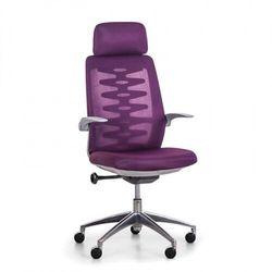 Krzesło biurowe z oparciem siatkowym sitta grey, fioletowy marki B2b partner