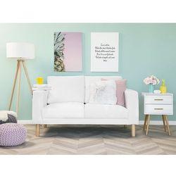 Sofa tapicerowana biała AVEROY, kolor biały