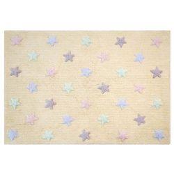 Lorena canals Dywan do prania w pralce tricolor star vanilla, kategoria: dywany dla dzieci