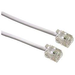 Kabel telefoniczny 6p4c biały 15m