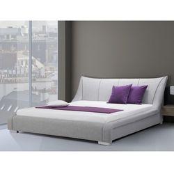 Nowoczesne łóżko tapicerowane ze stelażem 160x200 cm - NANTES szare (łóżko)