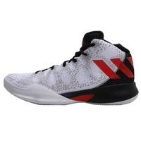 adidas Performance CRAZY HEAT Obuwie do koszykówki white/scarle/black (4058025575610)