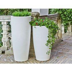 Sofa.pl New garden donica bambu 90 solar biała - led, sterowana pilotem
