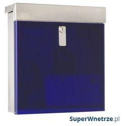 Skrzynka na listy mailbox x poly niebieska ciemna marki Max knobloch