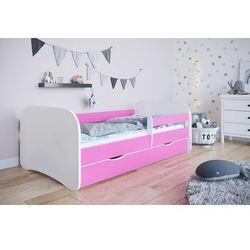 Łóżko dla dziecka, barierka, babydreams, różowy, biały, mat marki Kocotkids