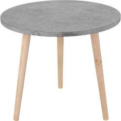 Stolik okazjonalny, kawowy, motyw cementu - Ø 50 cm (8711295702594)