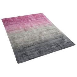 Beliani Dywan szaro-różowy 140 x 200 cm krótkowłosy ercis (4260602375012)