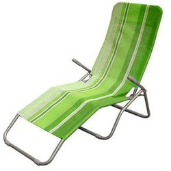 Happy Green leżak plażowy, metal + siatka - jasnozielony
