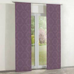 zasłony panelowe 2 szt., fioletowy, 60 × 260 cm, damasco marki Dekoria