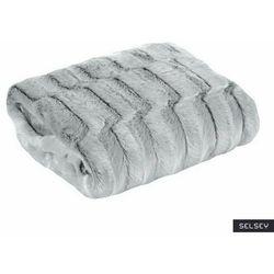 SELSEY Narzuta na łóżko Bosten 220x240 cm srebrna (5903025671055)