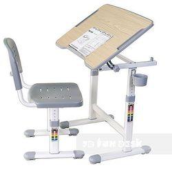 Piccolino ii grey - ergonomiczne, regulowane biurko dziecięce + krzesełko marki Fundesk