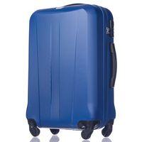 Duża walizka  abs03 paris niebieska - niebieski marki Puccini