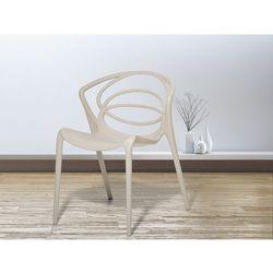 Beliani Krzesło beżowe - do jadalni - ogrodowe - do kuchni - kuchenne - bend (7081459417536)