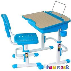 CAPRI Blue - Ergonomiczne, regulowane biurko dziecięce z krzesełkiem FunDesk - ZŁAP RABAT: KOD30, FD-CAPRI-BLUE