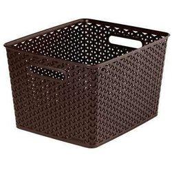 Koszyk My Style 18 l ciemny brąz z kategorii Kosze na pranie