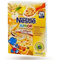 Nestle Junior Kaszka mleczna 5 zbóż z czerwonymi owocami 12m+, 250g