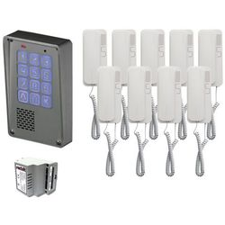 Zestaw 9-rodzinny Radbit Cyfrowy panel domofonowy wielorodzinny z szyfratorem KEC-4 NT MINI GD36