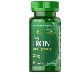 Easy Iron 28mg Glicynian żelaza 90kaps Puritans - produkt farmaceutyczny