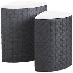 5five simple smart Kosze na pranie narożne z ciemnoszarego polipropylenu to rozwiązanie, które sprawdzi się w domu