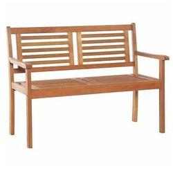 Drewniana ławka ogrodowa Infis - brązowa