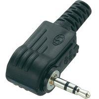 Złącze jack 2,5 mm  716932 złącze męskie kątowe ilość pin: 3 stereo czarny 1 szt. marki Conrad compone