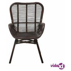Beliani Krzesło ogrodowe rattan brązowe togo (4260602372165)