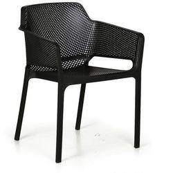 Fotel ogrodowy rustic, czarny, 3+1 gratis marki B2b partner