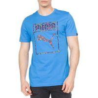 Puma Logo Camo T-shirt Niebieski L, kolor niebieski