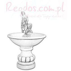 VB Jednopoziomowa fontanna dekoracja betonowa figurka kobiety 130cm